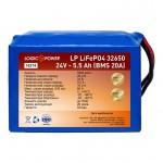 LogicPower LiFePO4 24V 5,5AH (BMS 20)